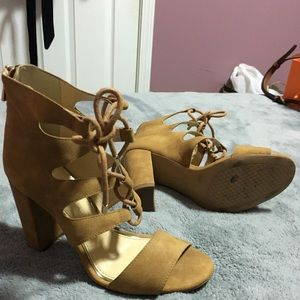 Jessica Simpson Lace Up Block Heels